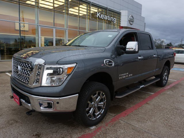 new 2017 nissan titan xd sl crew cab pickup in conroe n525713 keating nissan. Black Bedroom Furniture Sets. Home Design Ideas